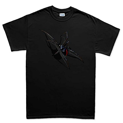 Mens Real 3D Spider Halloween Scary T Shirt (Tee) 2XL Black