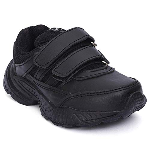 Campus Kids Black School Shoes | Unisex | 3-7 Year Old Kid| Durable (1)