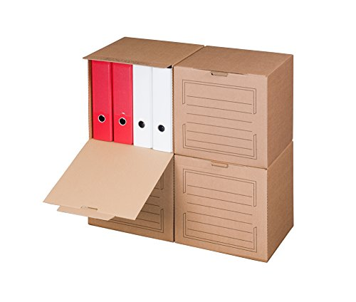 Smartbox Pro Archiv-Multibox mit Automatikboden Ablagebox, 5er Pack, braun