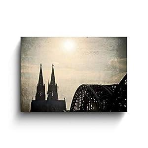 Dom/Hohenzollernbrücke, Köln Bilder, Fotos auf Holz, Fototafel, Handmade, verschiedene Größen