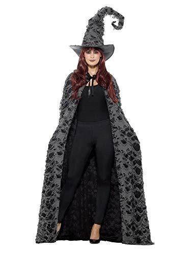 Zubehör Kostüm Zauberin - shoperama Deluxe Zauberer Umhang Kapuze Cape Erwachsene Zauberin Merlin Magier Hexe Hexer Märchen Damen Herren Kostüm-Zubehör
