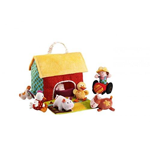 Lilliputiens 87177 - Granja de tela con muñecos de animales