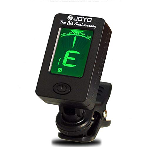 SEN Display LCD Chromatic Clip-On Tuner per Chitarra Acustica Basso Violino Nero
