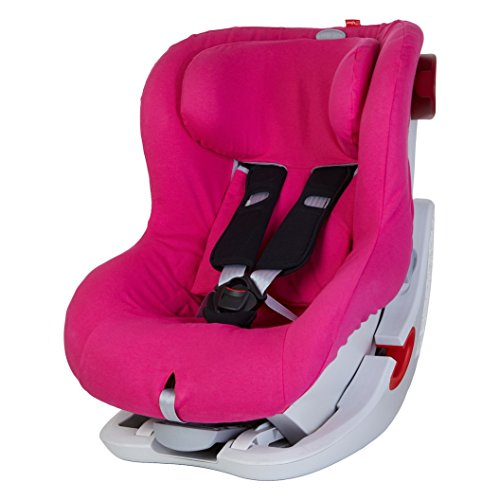 ByBoom® - Sommerbezug Baumwolle für Kinder-Autositz, universal für z.B. Britax Römer KING II ATS, LS, KING PLUS, SAFEFIX PLUS/PLUS TT, Farbe:Fuchsia