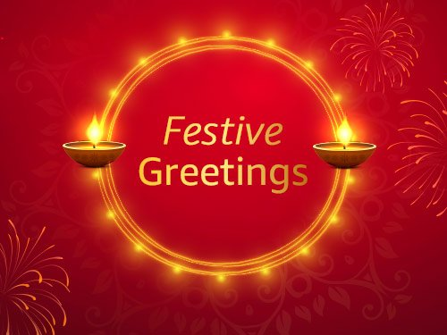 Festive greetings - E-mail Amazon Pay Gift Card