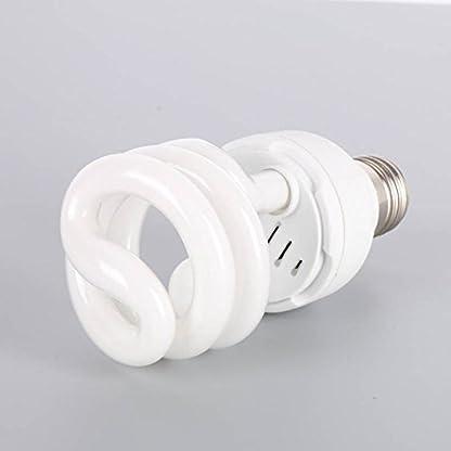 Hankyky UV Heat Lamp, UVA Reptile Basking Spot UVB 10.0 E27 220-240V 13W Glass Bulb 4