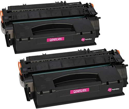 2 INK INSPIRATION® Premium Toner kompatibel für HP Q5949X 49X Laserjet 1320, 1320N, 1320NW, 1320TN, 3390, 3390AIO, 3392AIO   6.000 Seiten (Toner 49x)