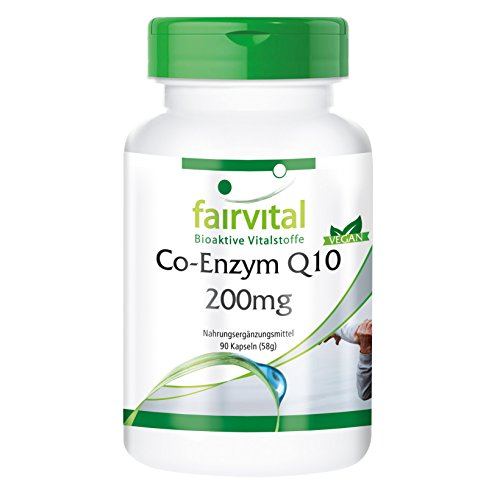 Co-Enzym Q10 200mg, Ubichinon, hochdosiert, vegan, 90 Q10-Kapseln