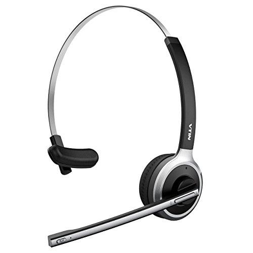 Auriculares Bluetooth 4.1 de Diadema Inalámbrico de VicTsing , Con micrófono incorporado, Manos libres y Cancelación de Ruido Hasta 13 HORAS de Conversación para Teléfono Fijo, Trabajos de Recepcionista, Monitor Deportivo, Clases Colectivas etc.