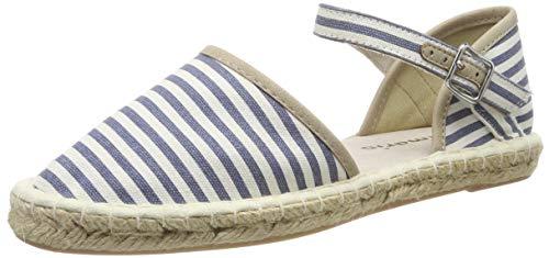 Tamaris Damen 1-1-24612-22 859 Slipper, Blau (Denim Stripes 859), 38 EU - Stripe Espadrille-sandale