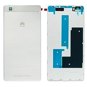 Original Huawei Akkudeckel white / weiß für Huawei P8 Lite (Akkufachdeckel, Batterieabdeckung, Rückseite, Back-Cover)