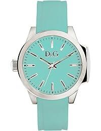 Dolce & Gabbana D&G - Reloj analógico de cuarzo para mujer con correa de piel, color azul