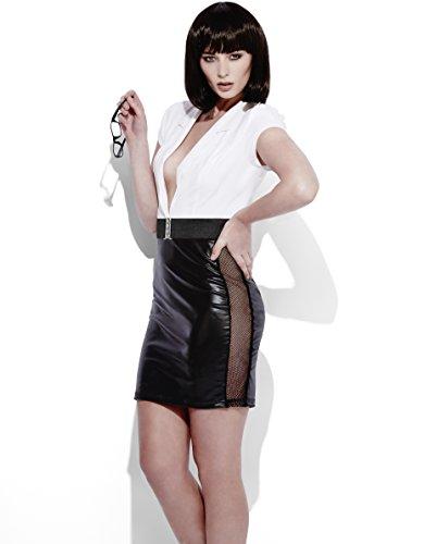 Smiffy's 44469XS - Fever Rollenspiel Sekretär im Wet-Look-Kostümes mit Dress und (Kostüme Sekretär)