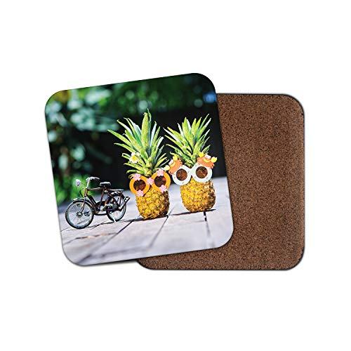 Lustige Ananas-Untersetzer - Fahrrad Fruit Funky Sonnenbrille Sommer Geschenk #12702