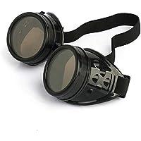 Lyanther Vintage Steampunk Gafas Gafas Cyber Punk Gothic (Negro)