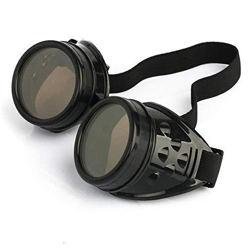 Lyanther Vintage Steampunk Brille Brille Cyber   Punk Gothic (schwarz)