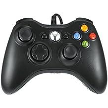 Xbox 360 Controlador de Gamepad, LESHP Mando para PC (Windows XP/7/8/10), Android (TV box / smartphone / tablet) y PS3, negro