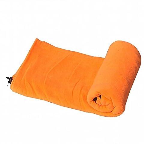 Sac de Couchage en Molleton en Plein Air Pour les Printemps Et L'Été,Orange