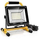 Olafus 60W 6000LM LED Work Light, 2 Brightness Modes, IP65 Waterproof Detachable Working