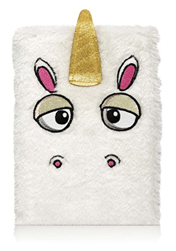 NPW A5 Lined Unicorn Notebook – White Furry