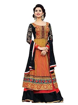 Urvashi Rautela Soft Net Work Lehenga Style Semi Stitched Salwar Suit