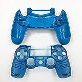 JDM-040 Ersatz-Gehäuse für Playstation 4 Pro PS4 Pro Controller, durchsichtig, Blau/Weiß Clear Blue No Button