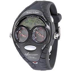 Sector 'Expander' R3251172195 Men's Digital Quartz Watch with Black Resin Strap