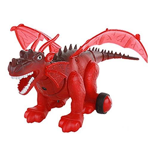 (Igemy Kinder Cartoon Tier Walking T-Rex Dinosaurier Figur mit Lichter & Stimme Bewegung Spielzeug (Rot))