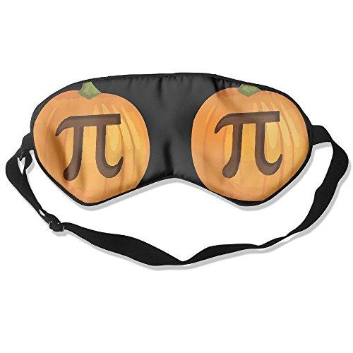 Suminla-Home Schlafmaske Funny Halloween Pumpkin Pie Pi natur Silk Eye Mask Abdeckung mit verstellbarer Gurt