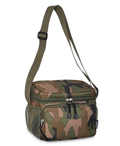 Insulated and Reusable Cooler/lunch Bag Tote 6 X 8.5 X 7.5 (Camo, One Size) by Everest