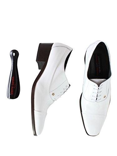 Pierre Cardin - Chaussure Pierre Cardin en cuir Caviar Blanc