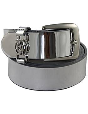 Armani Jeans Gürtel Damengürtel Belt Leder 921008 silber