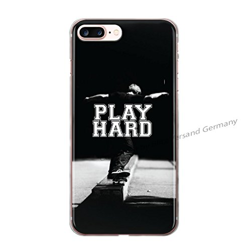 Blitz® PLAY Schutz Hülle Transparent TPU Cartoon Comic iPhone  Play Hard M8 iPhone 7PLUS / 8PLUS Play Hard M8