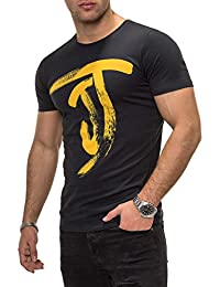 JACK & JONES Herren T-Shirt Kurzarmshirt Top Print Shirt Casual Basic O-Neck