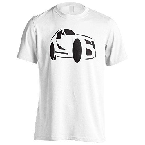 Novità dell'automobile sportiva nuovo attrezzo divertente di arte Uomo T-shirt c801m White