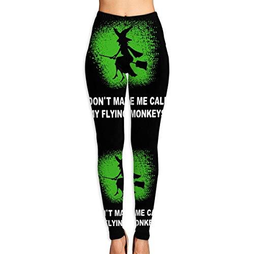 wwoman Die Yoga-Hosen-Fitness-Trainings-Gamaschen-Hosen der Halloween-lustigen Hexen-Frauen in voller Länge,M (Hexen In Der Halloween)