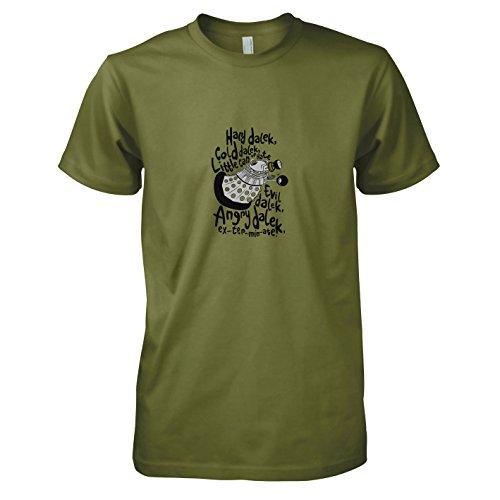 Plüsch-dalek (TEXLAB - Hard Dalek - Herren T-Shirt, Größe L, oliv)