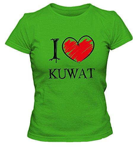 I love Tennis FUN Damen T-Shirt, Größe:XL;Farbe:grün (Agassi Tennis Schläger)