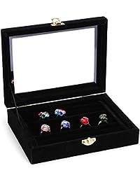 Doitsa Ringschachtel Ring Kasten Ringetuis 4.5x5x3.5 cm Geschenk Kasten Schmuckdose f/ür Valentinstag Geschenk Verpackung Dunkelblau