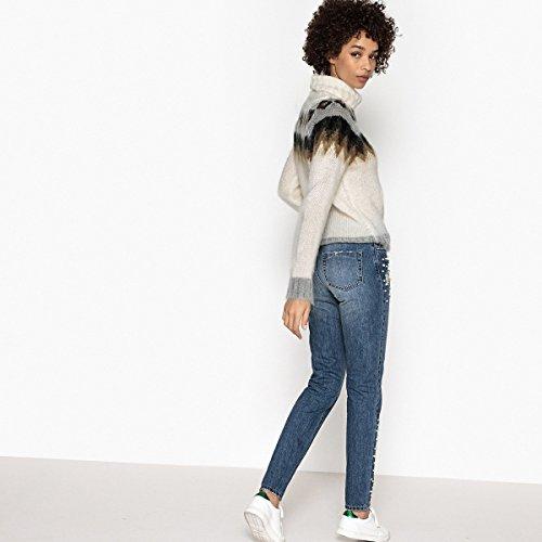 La Redoute Collections Donna Jeans Mom Vita Alta Blu Stone