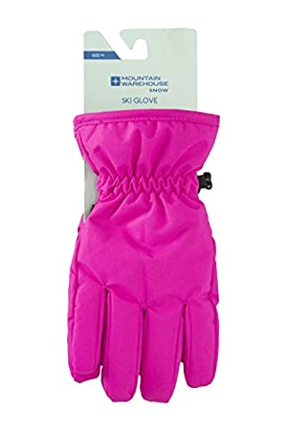 Mountain Warehouse Kids Ski Gloves - Snow Proof, Elasticised Cuffs,