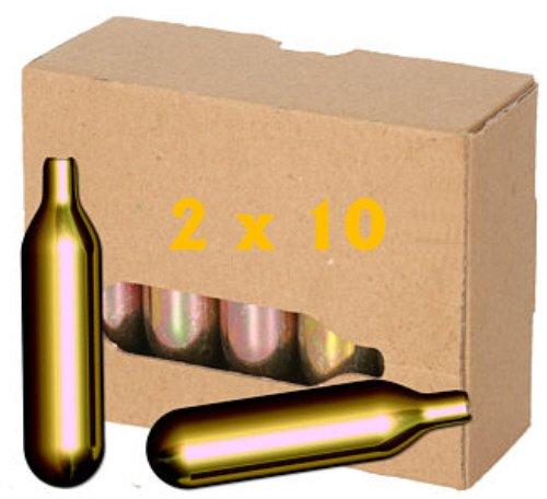 20 x 16g CO2 Mosa Bierkapseln ohne Gewinde für Zapfanlagen wie BierMaxx, Zapfprofi u.v.m.