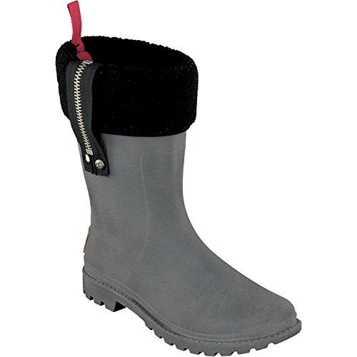 Gosch Shoes Sylt Damen Gummi Winter Stiefel 7119-601 gefütterte Boots wasserdicht Regen Wasser Wald Freizeit, Schuhgröße:38, Farbe:grau (Gummi Winter Stiefel)