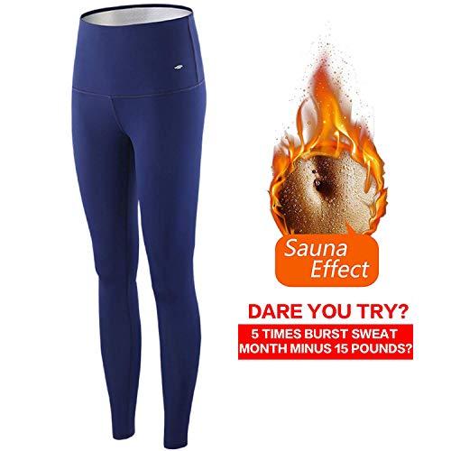 Yucen pantaloni di perdita di peso pantaloni sauna, pantaloni dimagranti delle donne hot thermo neoprene sauna sudore pantaloni dimagranti delle donne hot thermo neoprene sauna sudore (l)