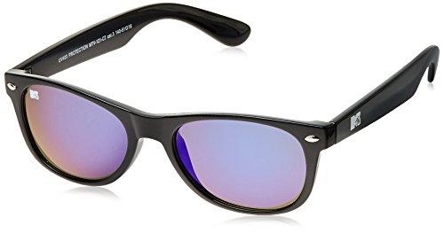 MTV Mirrored Oval Unisex Sunglasses (Black) (MTV Mirrored-121-C7) image