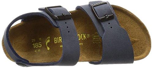Birkenstock Kids NEW YORK BF-NUBUK 87773 Unisex-Kinder Clogs & Pantoletten Blau (Navy)