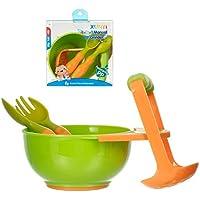 LAI Herramientas de molienda de alimentación para bebés Procesador de Alimentos para bebés Suplementos Alimentador de Alimentos Molinillo de Frutas Tazón, Naranja Verde