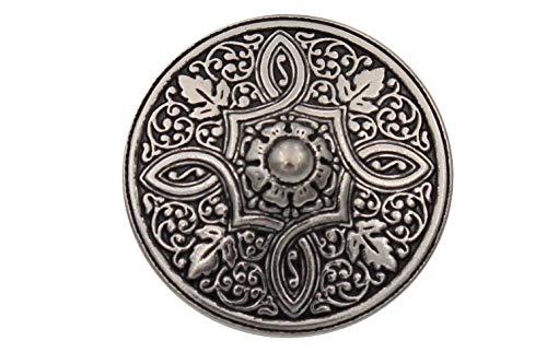 Silber Knöpfe aus Metall geschwärzt, wunderschönes Muster, Made in Germany 15mm oder 20mm (6 Stück) (20mm)