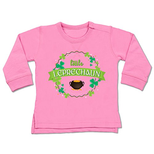 le Leprechaun St Patricks Day - 6-12 Monate - Pink - BZ31 - Baby Pullover ()