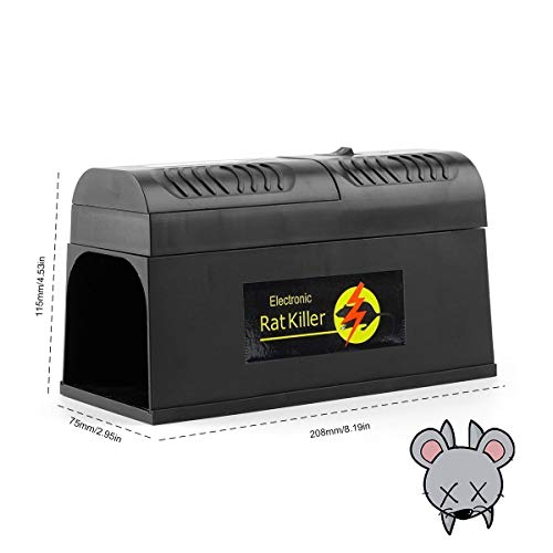 EisEyen Electronic Rat Traps, Mouse Rodent Traps Electronic,High Voltage Emitting,Effective and Powerful Killer for Rat,Squirrels Mice and Similar Rodents Pest Mice Traps -